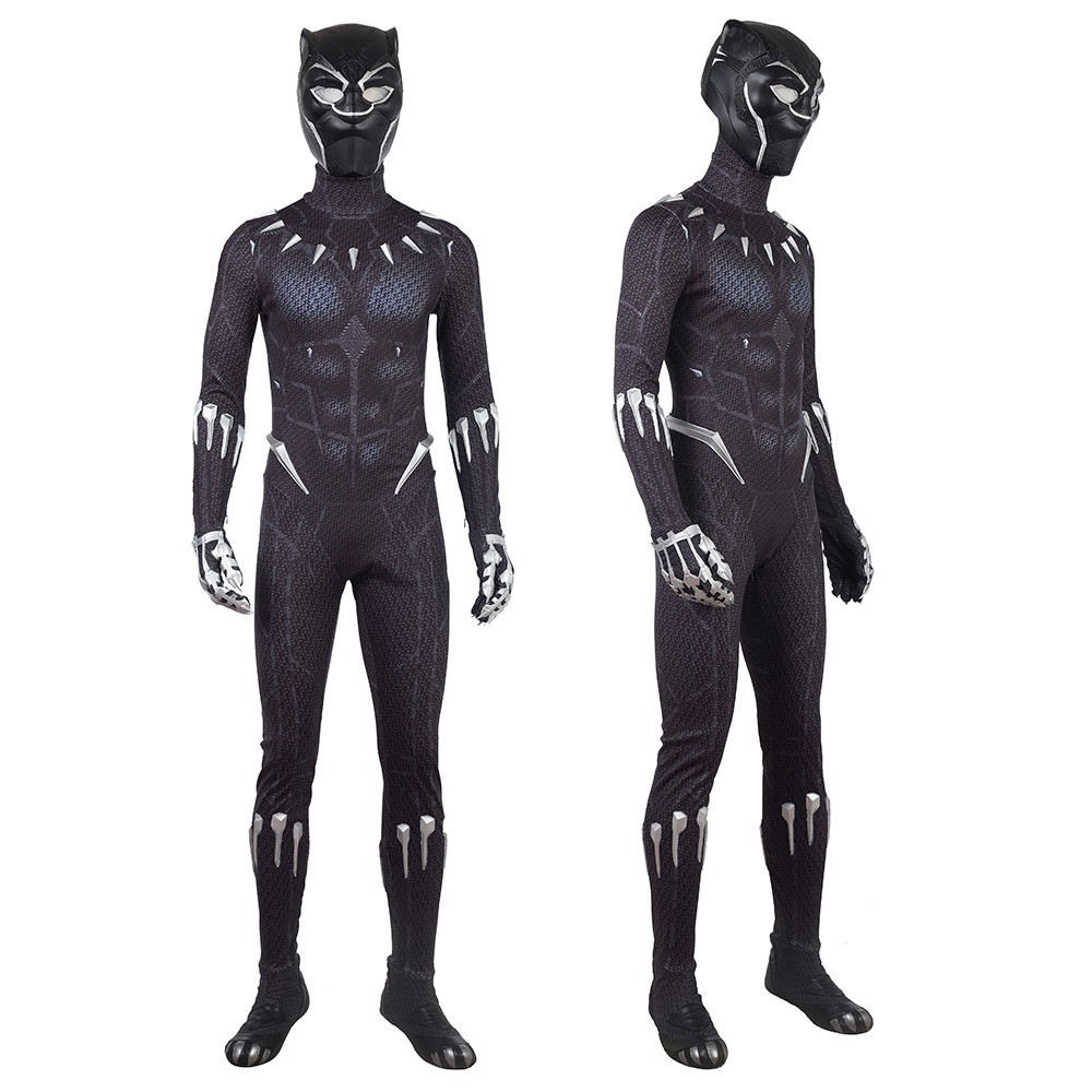 Black Panther Costume Captain America Civil War T Challa Cosplay Jumpsuit Black Panther Costume Panther Costume Black Panther