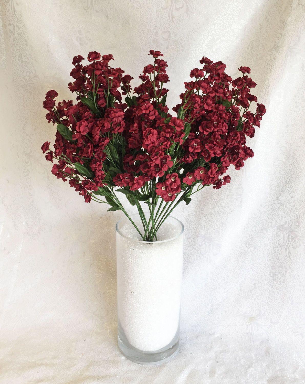 895 12 Babys Breath Many Colors Gypsophila Silk Wedding Flowers