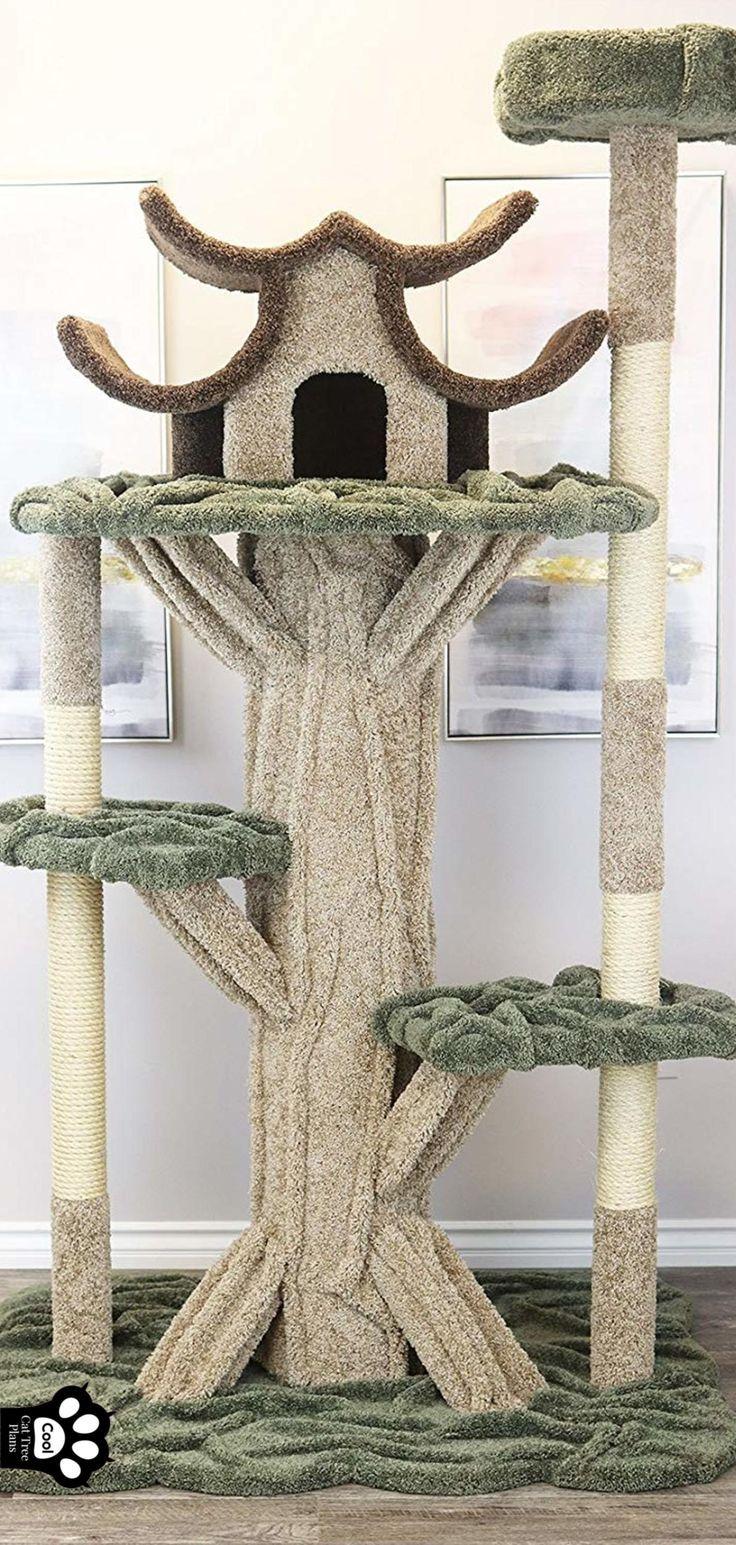 Cat trees carpet covered works of art cat tree plans