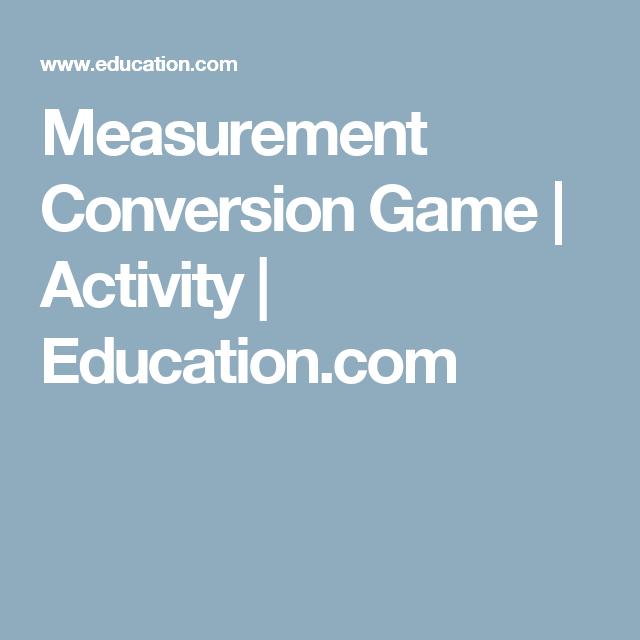 Measurement Conversion Game | Activity | Education.com