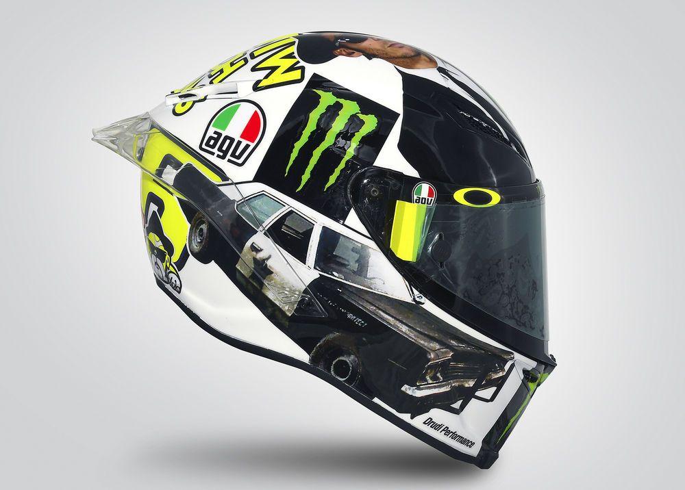 Rossi's 2016 Misano AGV Helmet Graphic