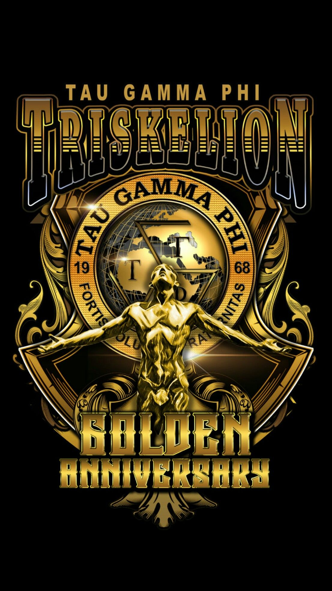 Triskelion Tau Gamma Wallpaper Gold 50 Android Iphone