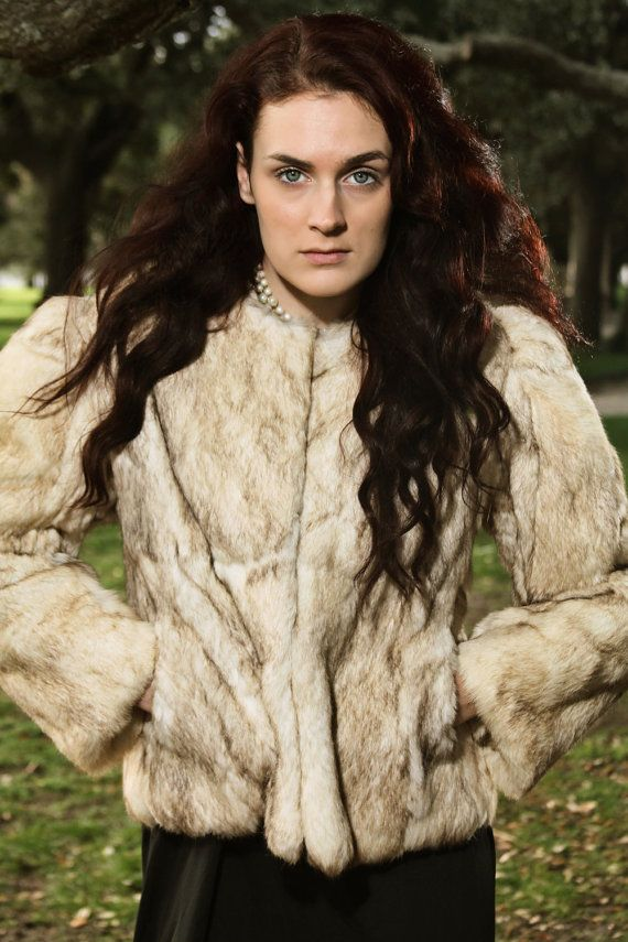 Vintage Fur Coat 1980s Real RABBIT Fur by runaroundsuevintage ...