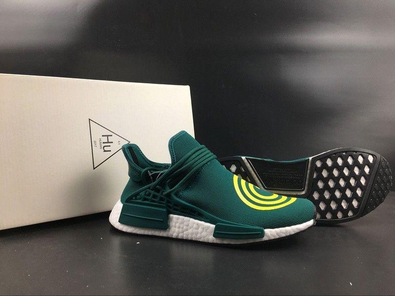 472cf6dda2652 Men s Adidas NMD Human Race Original Running Shoes Deep Green
