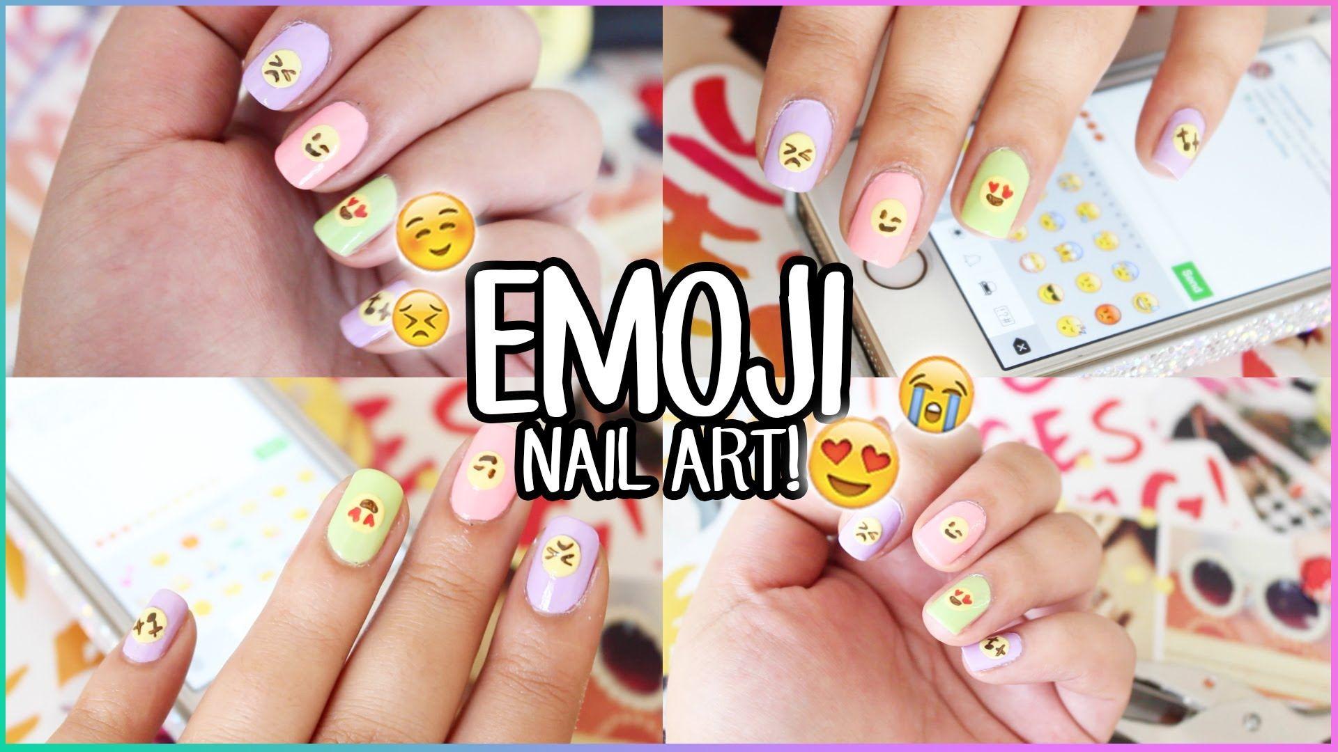 Moderno Arte De Uñas Emoji Ideas - Ideas de Diseño de Arte de Uñas ...