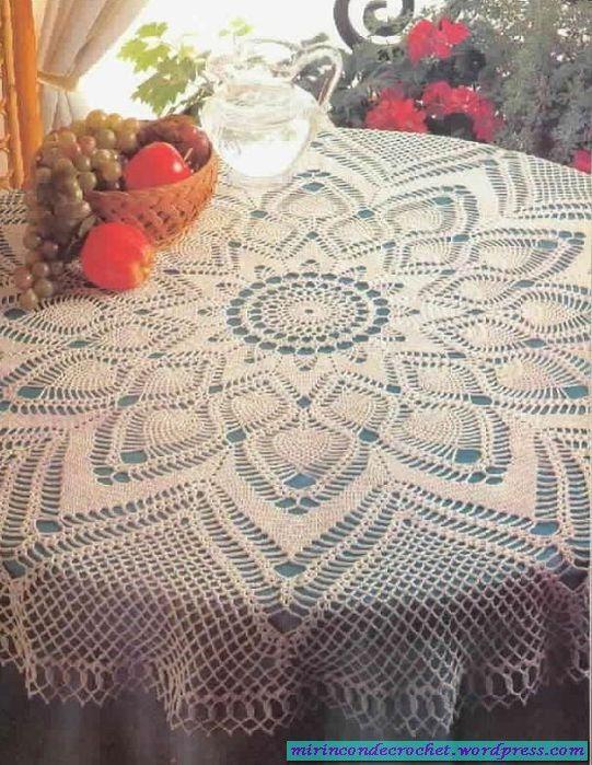A vestir nuestra mesa!!!   manteles redondo   Pinterest   Crochet ...