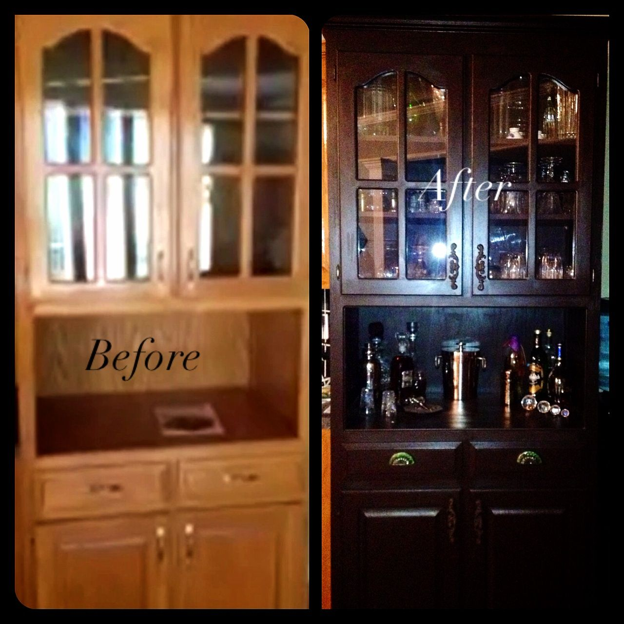 china cabinet refinished in paris gray and old white. for sale