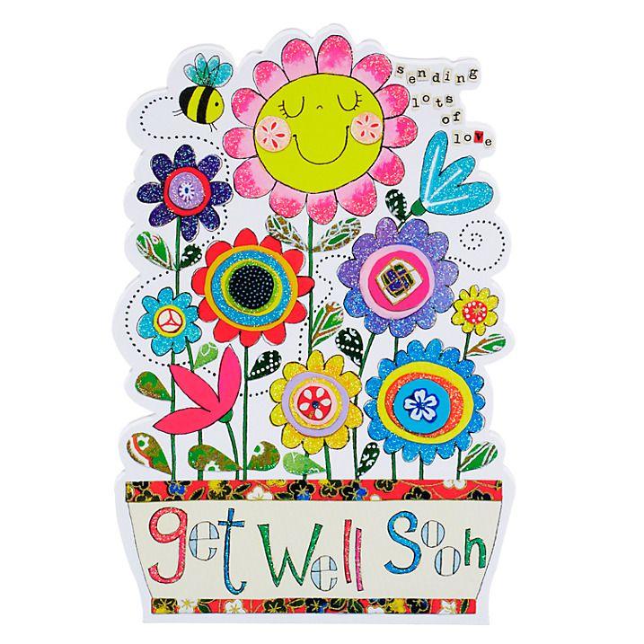 rachel ellen tiddlywinks get well soon flowers card  get