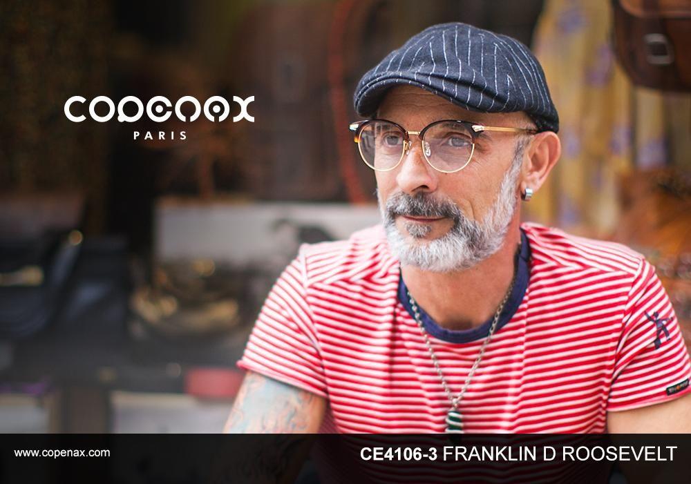 CE406-3 FRANKLIN D ROOSEVELT #eyewear #frame #fashion #copenax #코페낙스