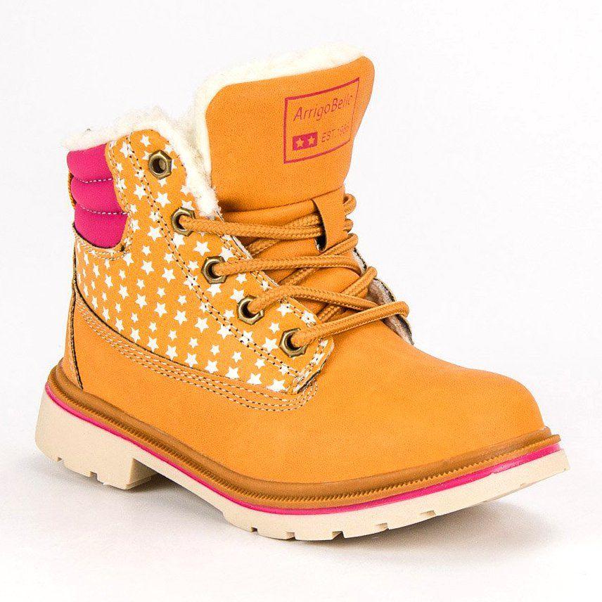 Kozaki Dla Dzieci Arrigobello Arrigo Bello Brazowe Dzieciece Ocieplane Buty Zimowe Boots Timberland Boots Shoes