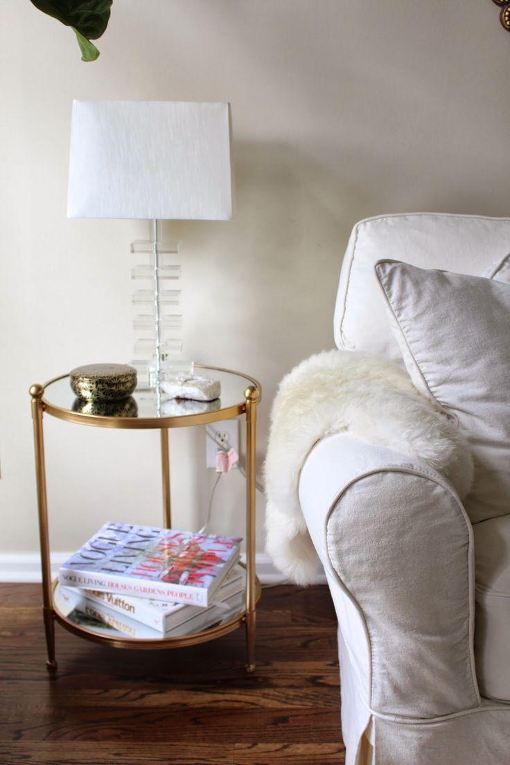 Gold side table #moderndesign modern side table #whitedesign white ...
