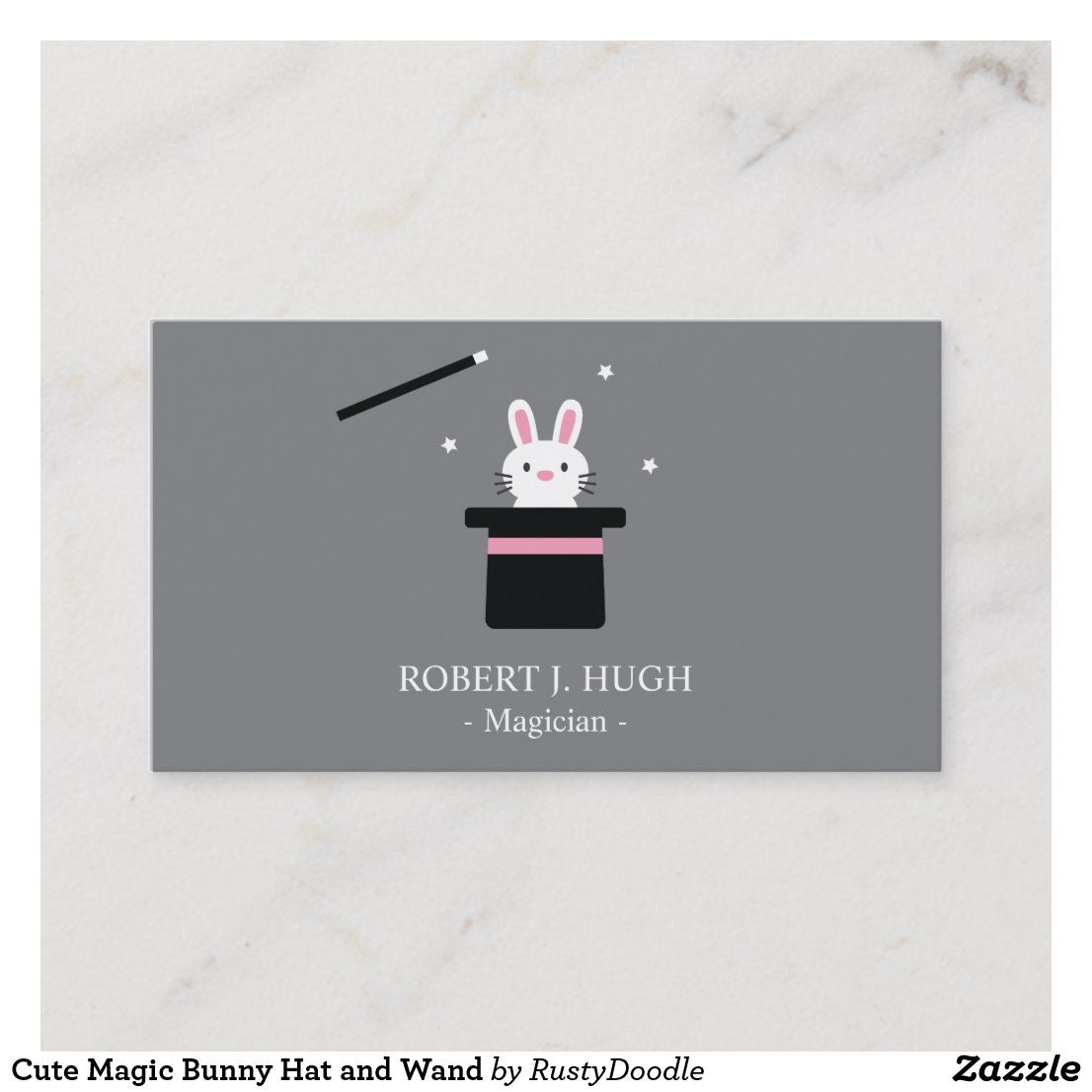 Cute Magic Bunny Hat And Wand Business Card Zazzle Com Bunny Hat Wands Bunny