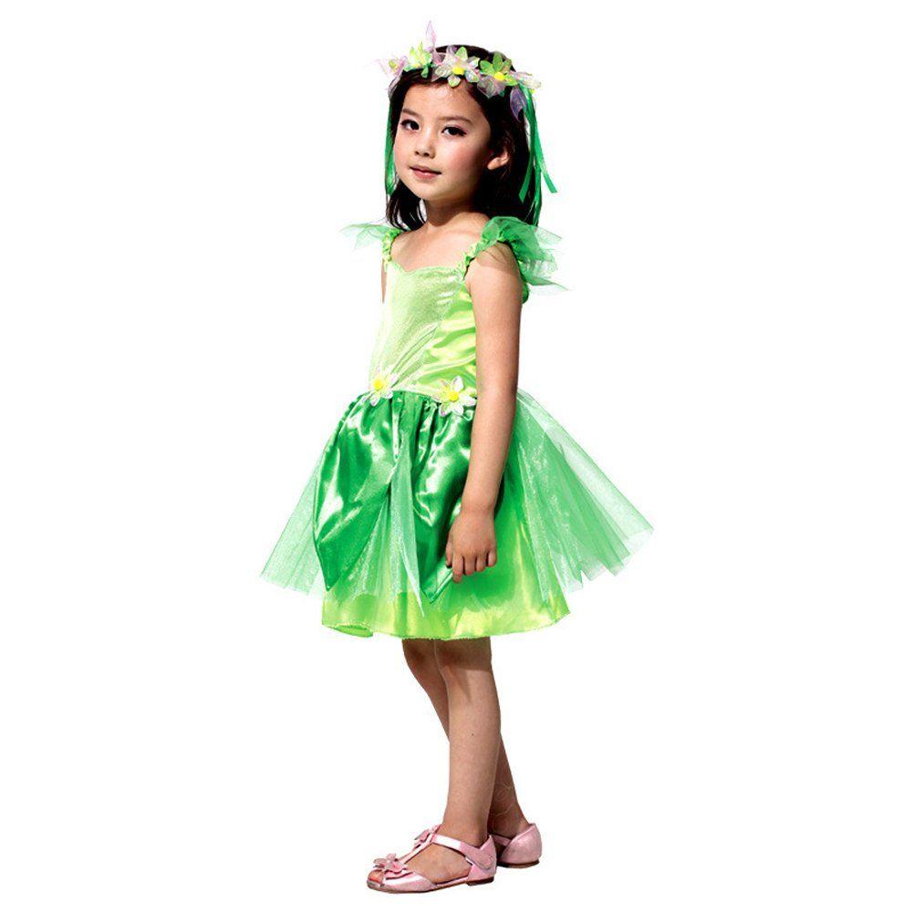 Dreamowl kids girls flower dress fairy princess halloween