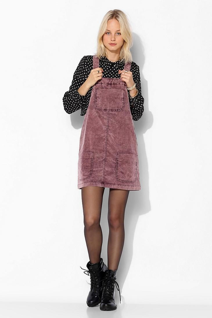 6891f532c28 BDG Washed Corduroy Overall Skirt  urbanoutfitters