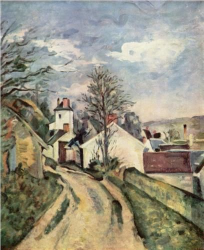 The House of Dr. Gached in Auvers - Paul Cezanne -1873.