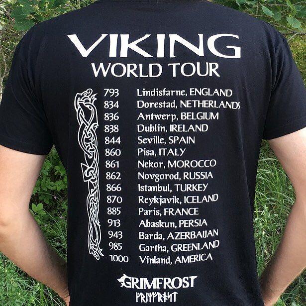 115dcab15 Viking World Tour Tee | The [X]tyle Files | Vikings, Shirt designs ...