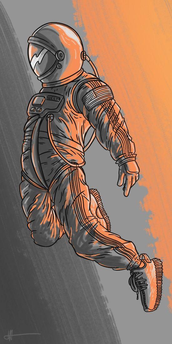 Kanye West - Yeezy - Digital Art - Space - Astronaut ...