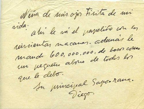 Quesadillasydiamantes Una De Las Cartas De Amor Que Diego Rivera Le Envió A Frida Kahlo One Of The Frida Kahlo Frida Kahlo Autorretrato Frase De Frida Kahlo