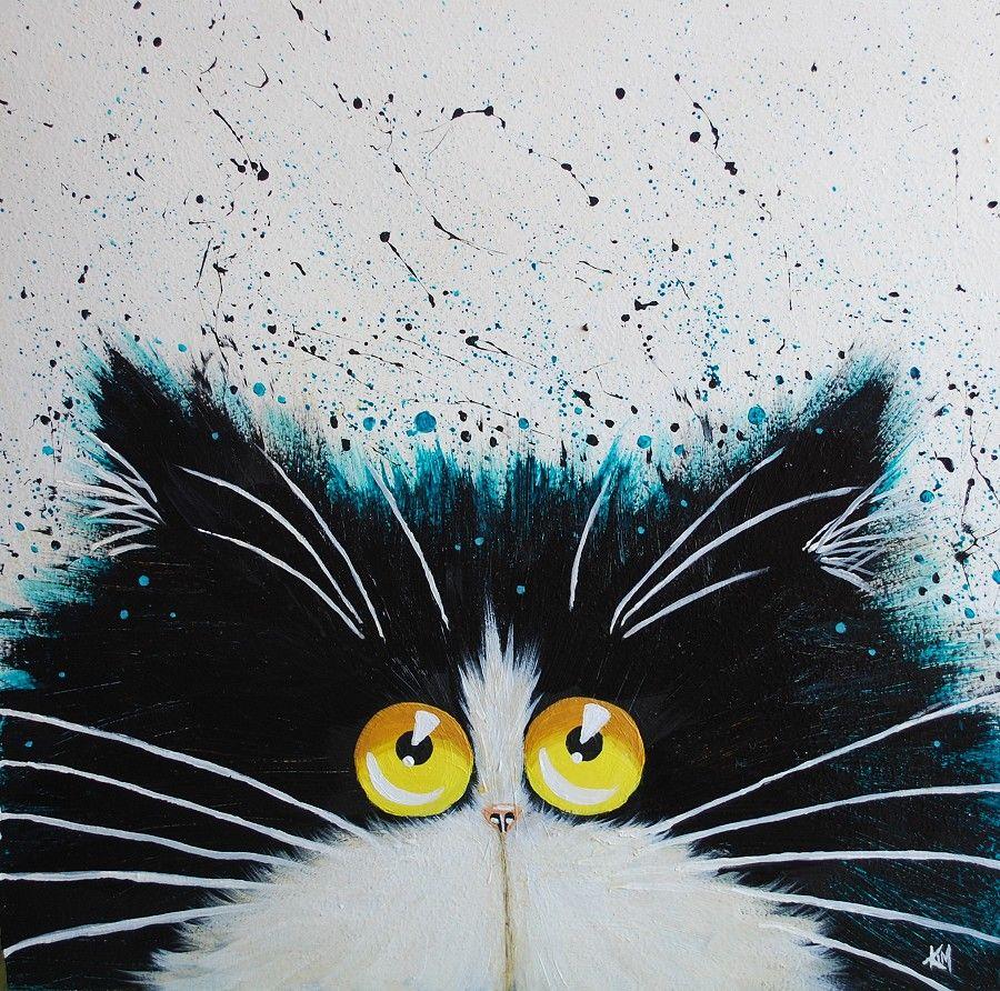 Картинки смешных рисованных кошек, про четверг