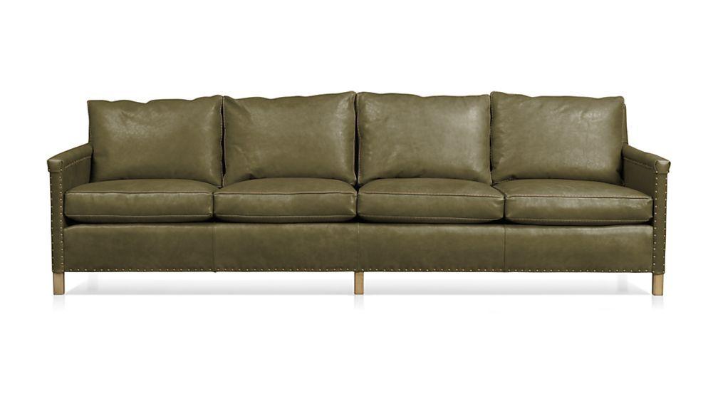 Trevor Leather 4 Seat 106 Grande Sofa