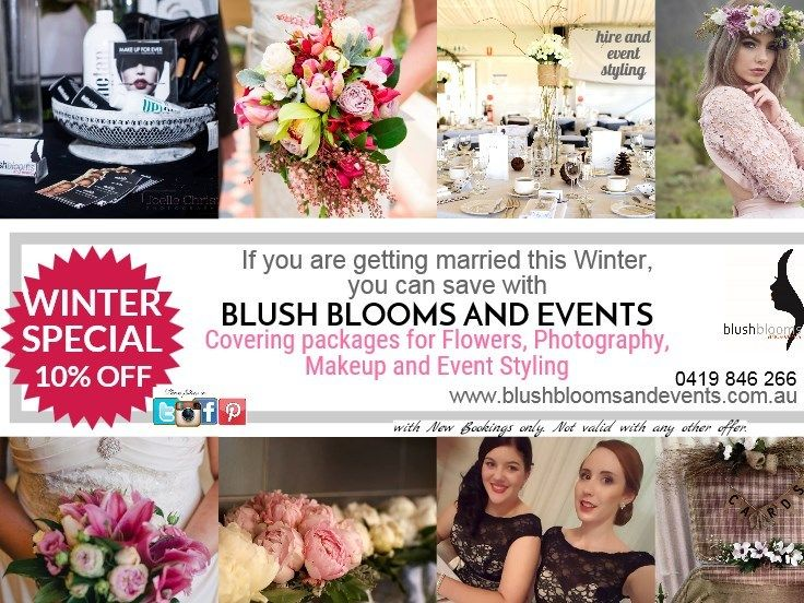 for a Winter package for flowers, makeup and events styling www.blushbloomsandevents.com.au have an ideal package saver.