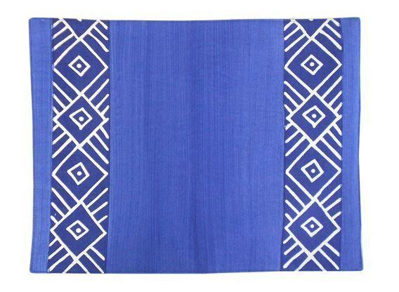 Blue Geometric - Placemats - Set of 6