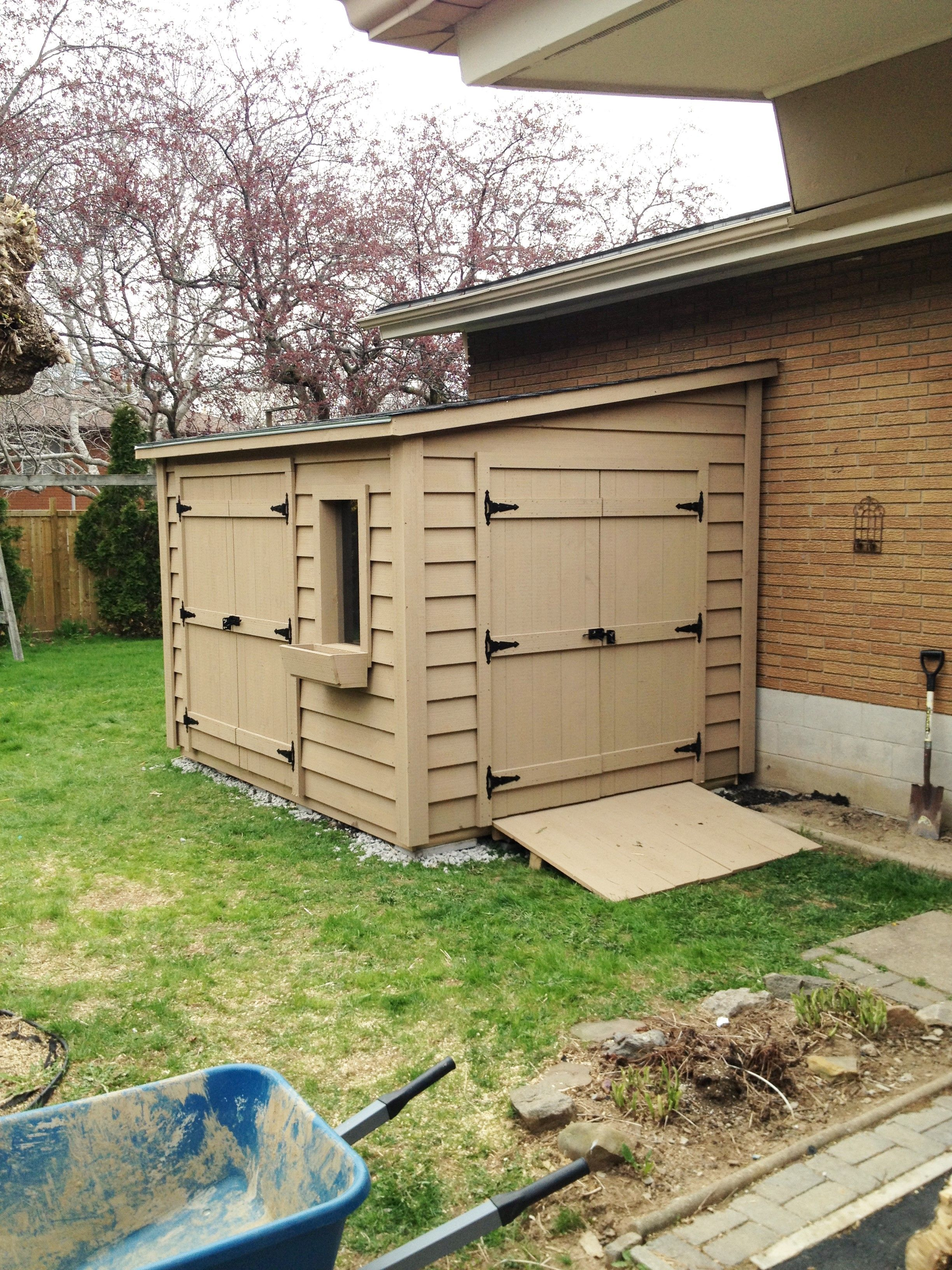 8x10 lean to shed with 2 5ft double doors and one window for Lean to storage shed