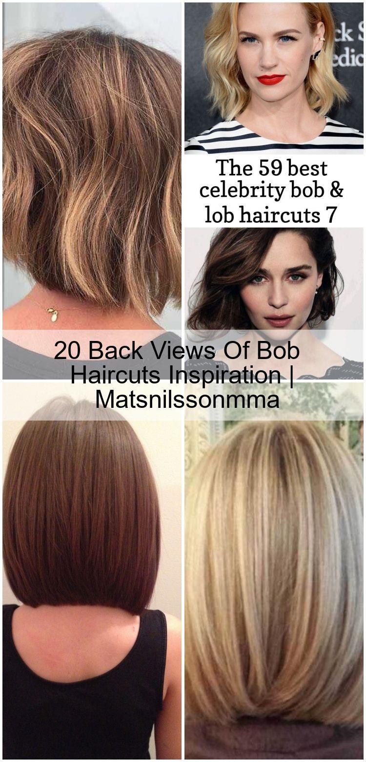 20 Back Views Of Bob Haircuts Inspiration Matsnilssonmma Kidsbobhaircut Coupe De Cheveux Lob Coupe De Cheveux Cheveux Lob