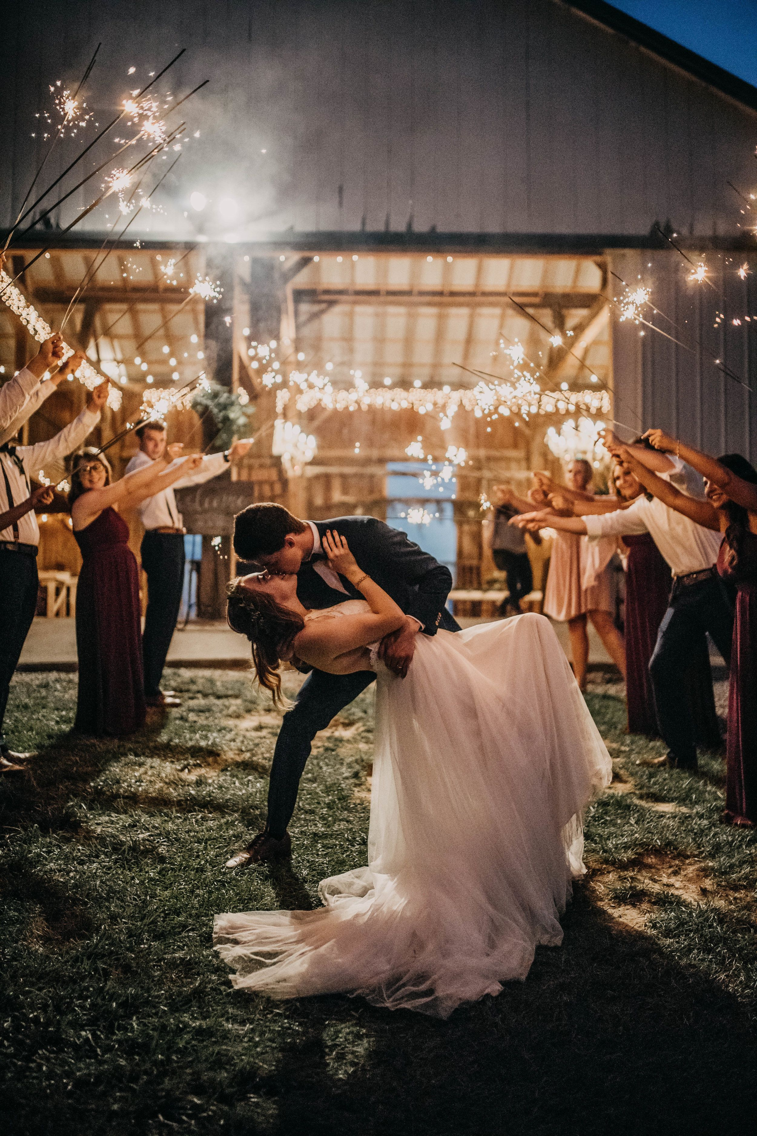 The Most Perfect Sparkler Exit The Young S Boho Chic Midwest