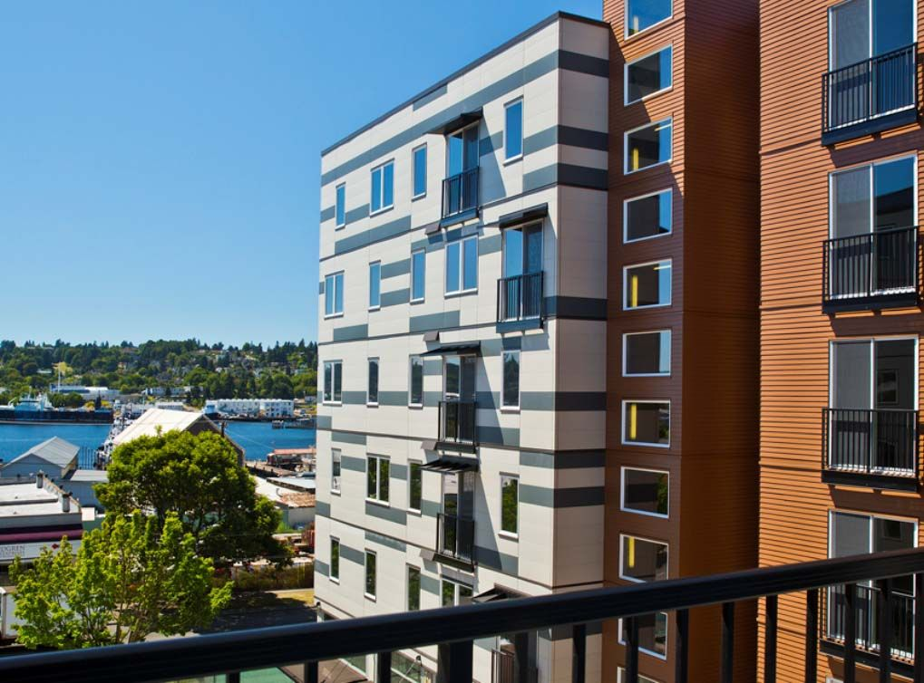 The view from AMLI Mark24, luxury Seattle apartments in
