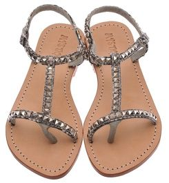 Mystique Silver Lining T-Strap Sandals