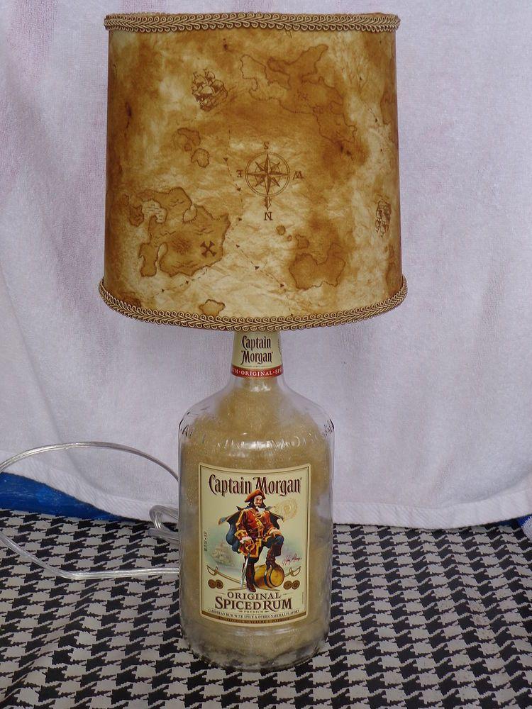 1.75 Lt Captain Morgan Liquor Bottle Lamp (Nautical/Pirate Shade)  #CaptainMorgan
