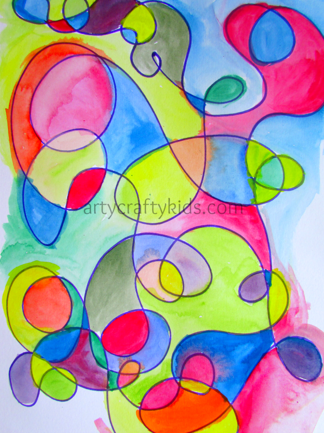 Calming Watercolour Art Watercolor Art Kids Squiggle Art Art Bloggers