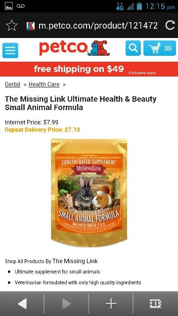 The missing link Ultimate health & beauty small animal