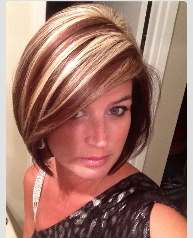 Pin By Cindi Miner On Hair Do S Hair Styles Short Hair Styles Brown Hair With Blonde Highlights