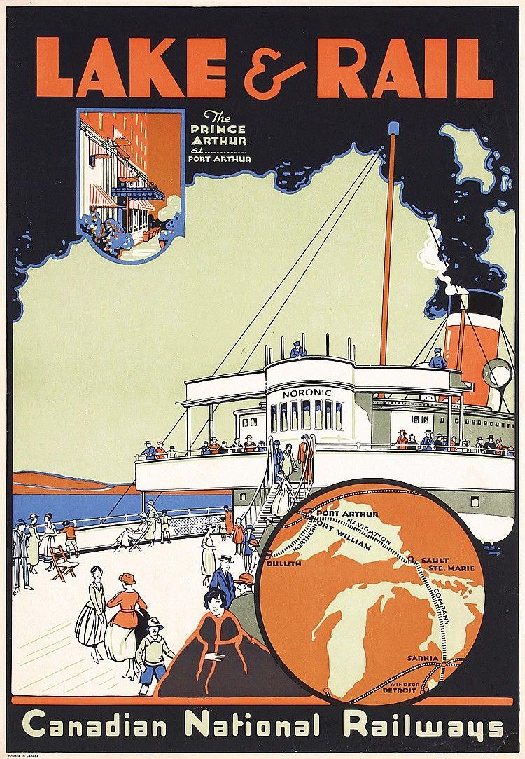 Canada Canadian National Railways Vintage Travel Advertisement Art Poster Print