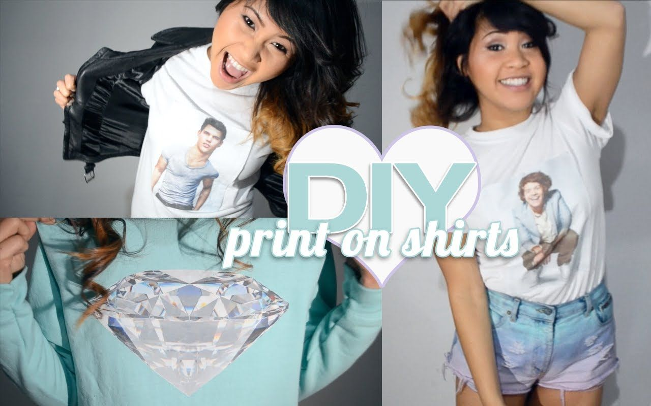 DIY ♥ How To Print Your Own T-Shirts & Sweatshirts At Home! *I know she's a 1Der with a deadly fever, but I can think of a lot of cool K-Pop things to do with this