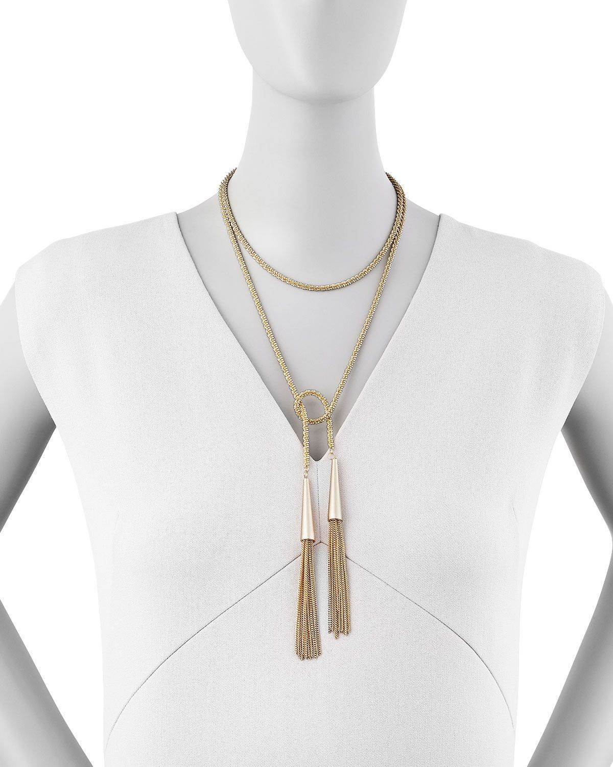 Kendra Scott Phara Gold-Plated Double-Wrap Necklace EXAoBx57l