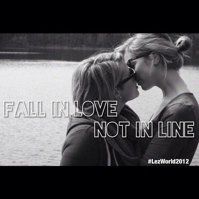 Lesbian falling in love