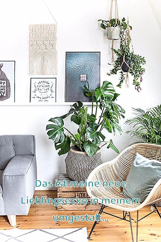 Urban Jungle – Grün wohnen mit Monstera, Sukkulente und Co! #korbstuhl #skandinavisch #interior #makramee #boho #natürlich #wohnen #korb #teppich #dielenboden