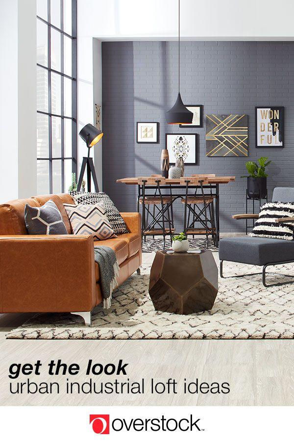 Industrial Loft Decorating Ideas For An Urban Feel Overstock Com Urban Living Room Urban Living Room Furniture Urban Industrial Decor