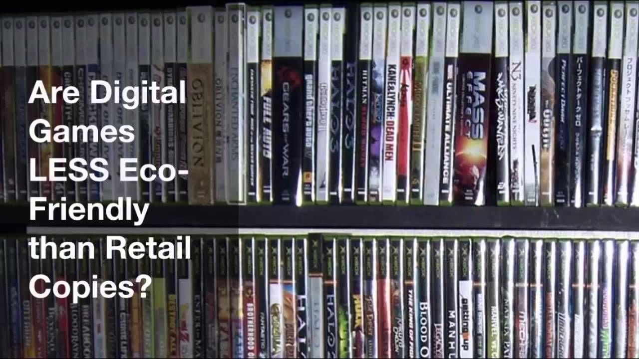 Are Digital Games LESS Eco-Friendly than Retail Copies?