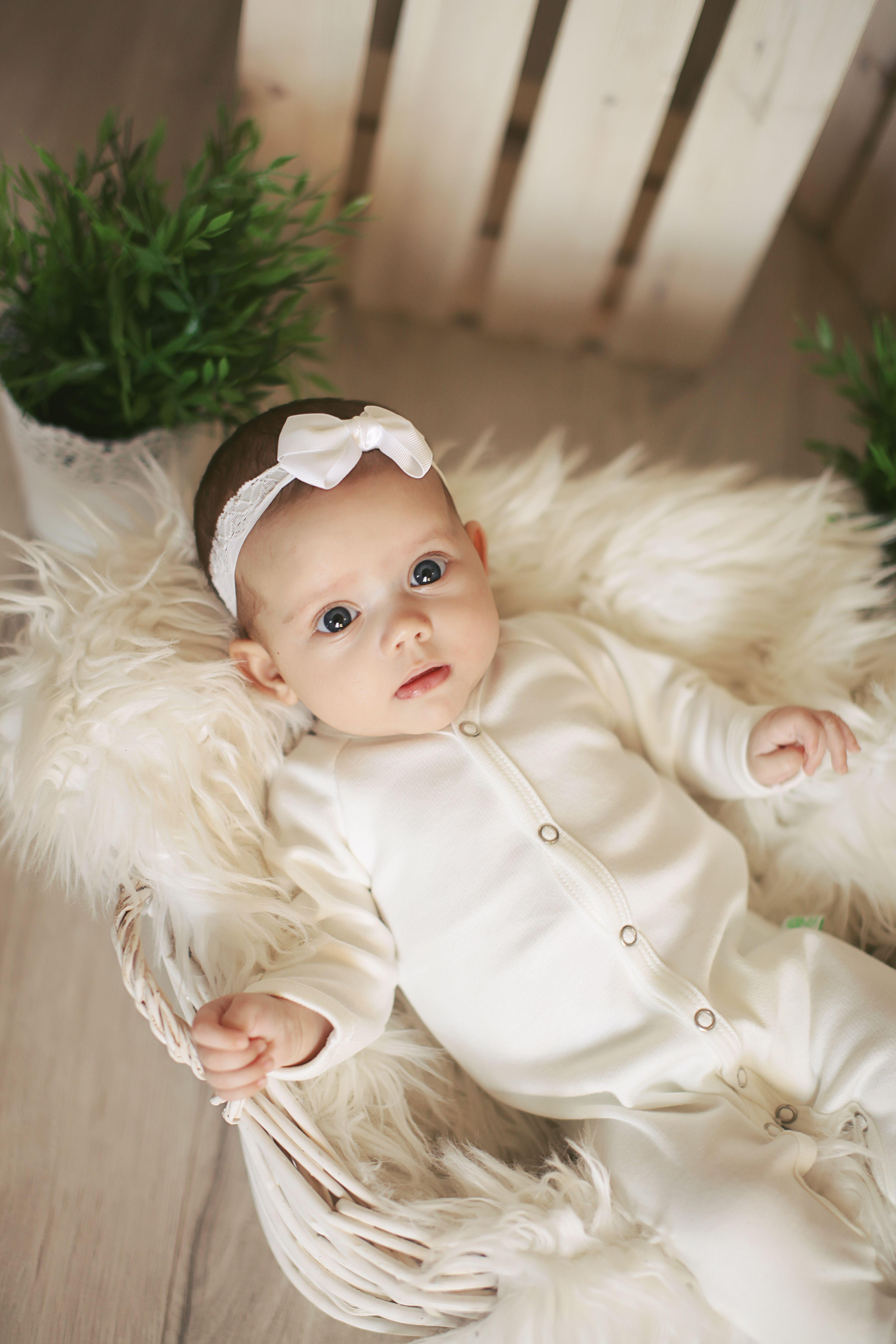 Merino Wool White Baby Romper White baby romper, Baby