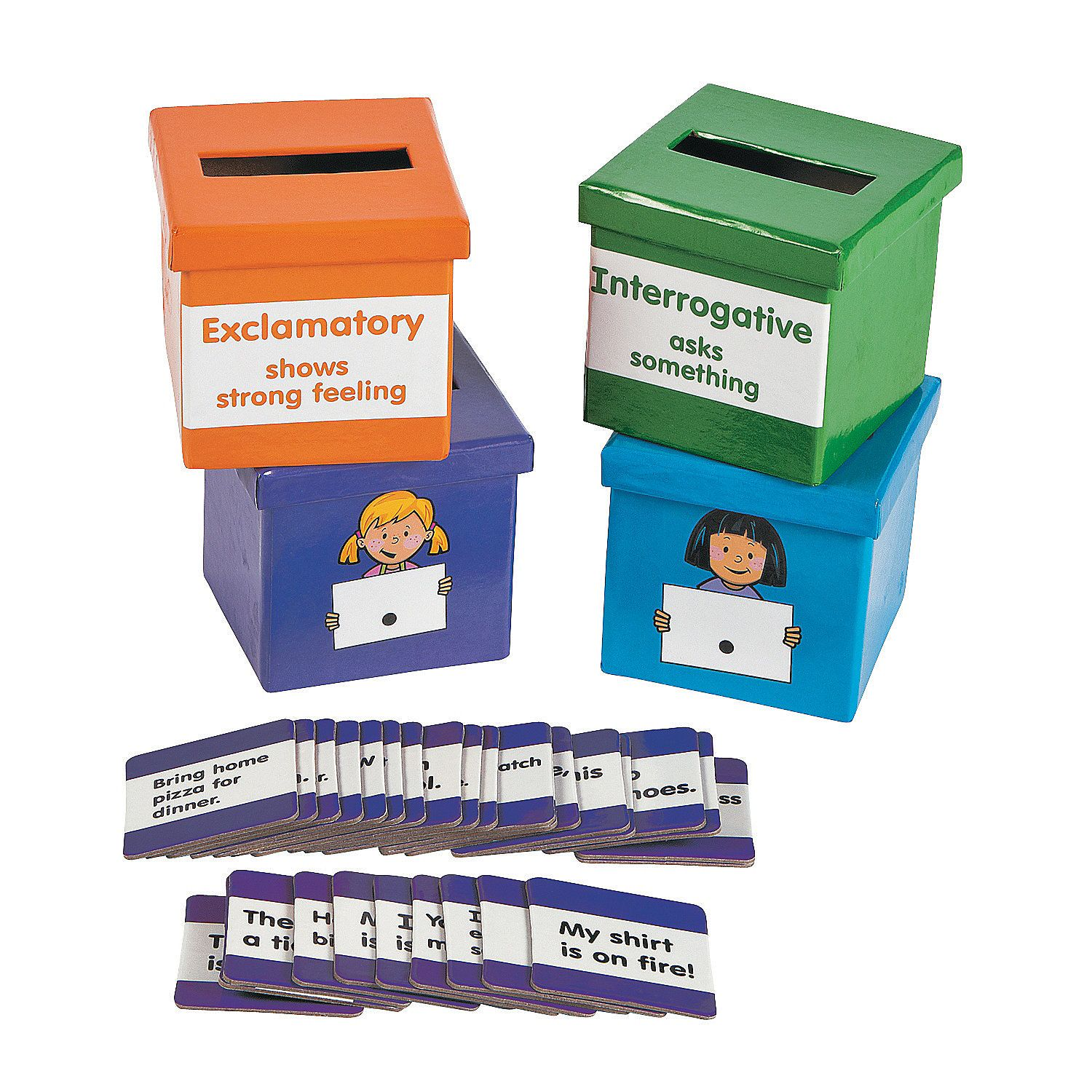 Type Of Sentence Sorting Boxes Orientaltrading