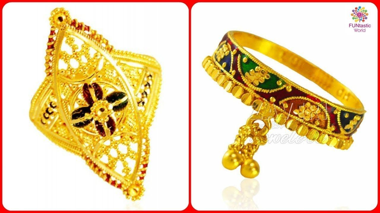 Latest Light Weight Stylish Gold Rings Designs for Women/Girls ...