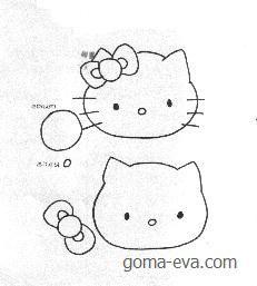 souvenirs en goma eva de hello kitty  Buscar con Google