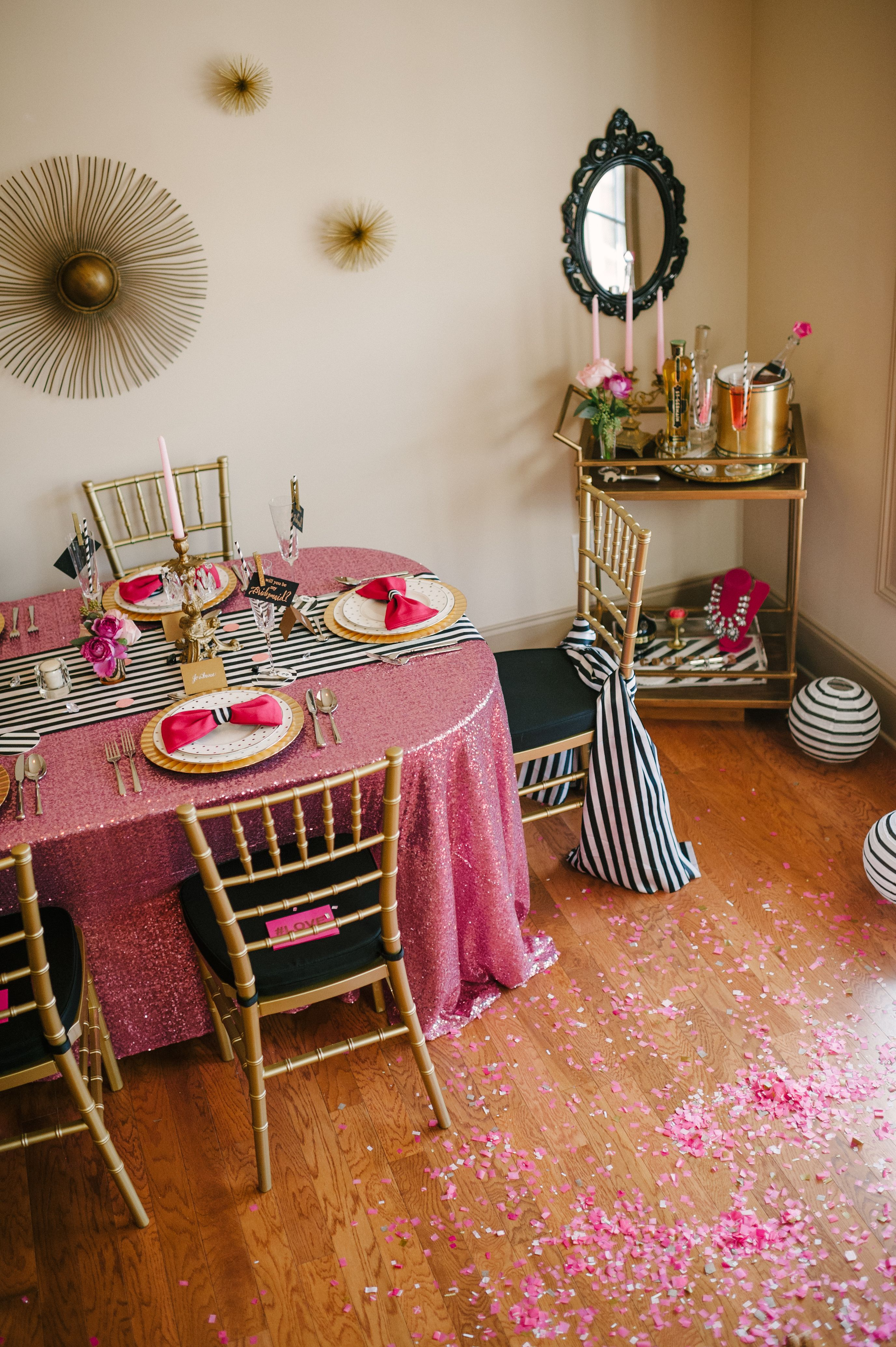 A Chic And Swanky Kate Spade Inspired Dinner Party Party Time
