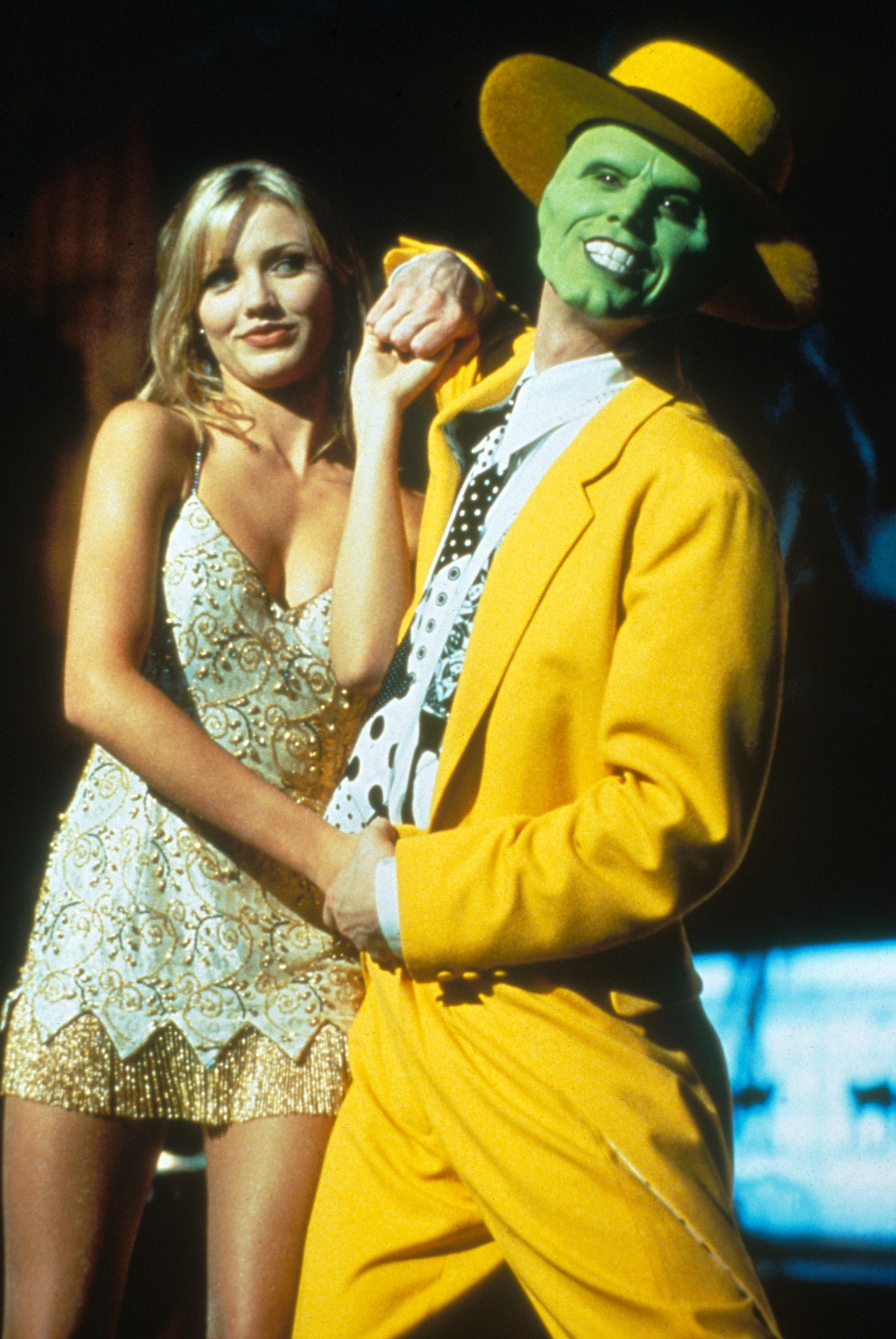 """The Mask"" movie still, 1994. L to R: Cameron Diaz, Jim ..."