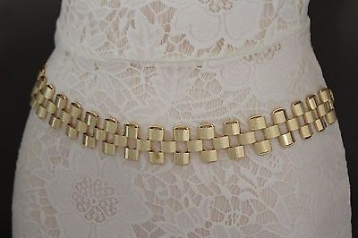nice New Women Metal Belt High Waist Hip Gold Wide Mesh Chain Link Strands S M L - For Sale Check more at http://shipperscentral.com/wp/product/new-women-metal-belt-high-waist-hip-gold-wide-mesh-chain-link-strands-s-m-l-for-sale/