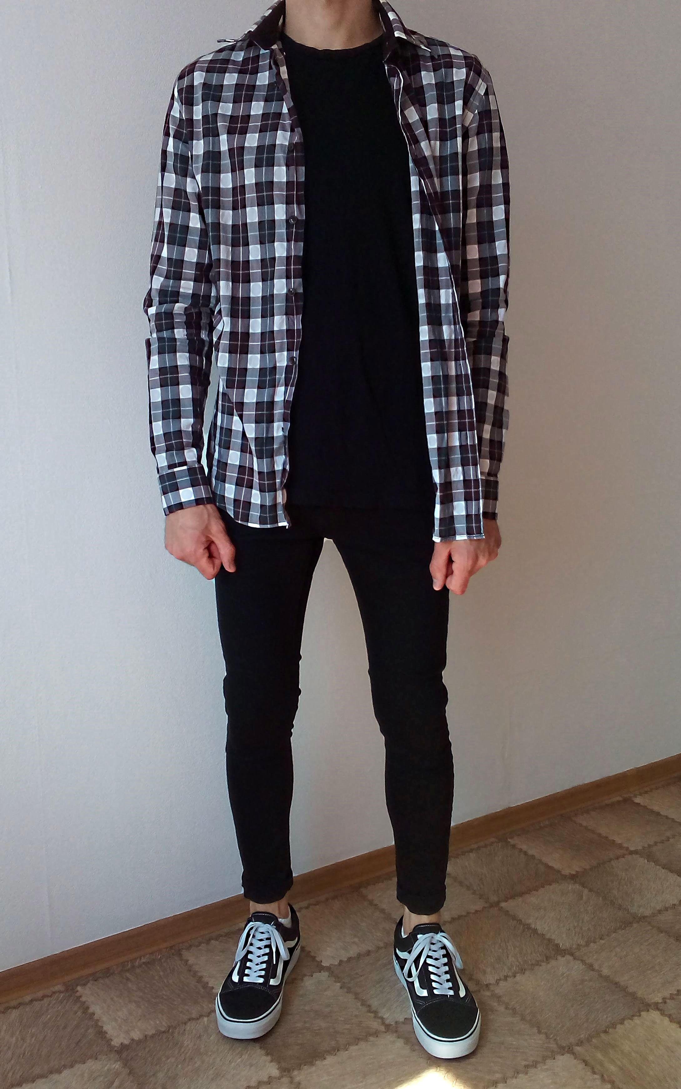 vans old skool black skinny jeans boys